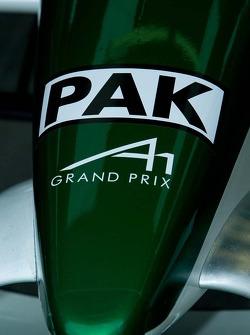 Detail of Team Pakistan race car