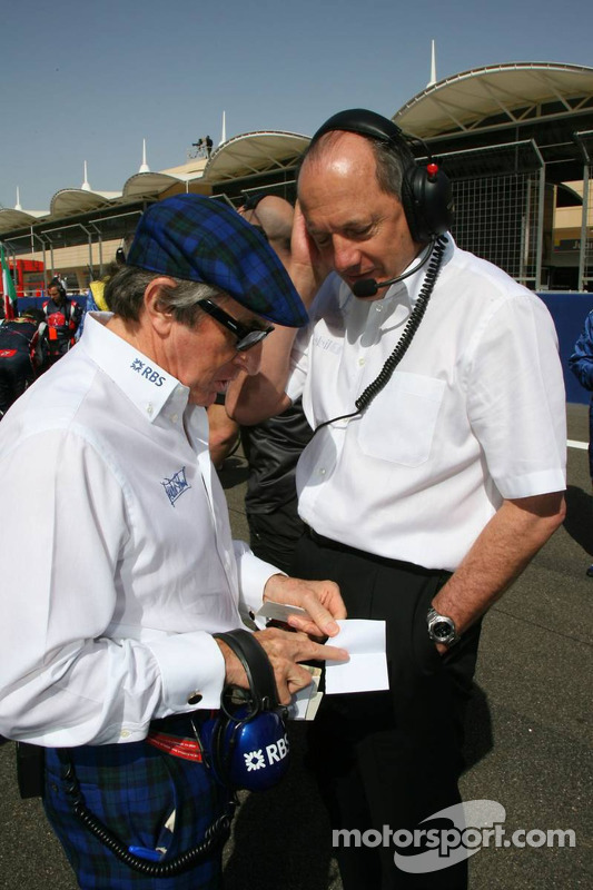 Sir Jackie Stewart y Ron Dennis