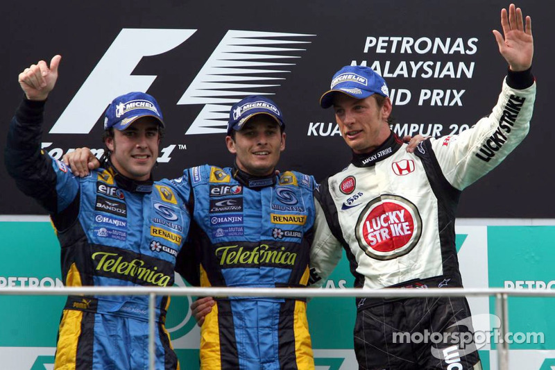 2006 : 1. Giancarlo Fisichella, 2. Fernando Alonso, 3. Jenson Button