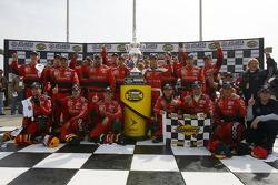 Victory lane: race winner Kasey Kahne celebrates with his team