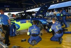 Área de servicio del Subaru World Rally Team