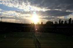 Pitstop tennis Pro-Am charity event: the sun sets