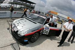 Kuno Wittmer on the starting grid