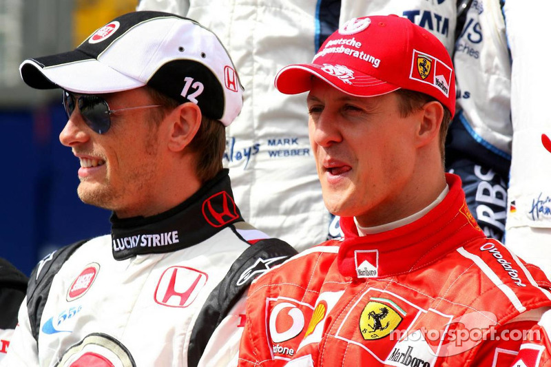 Foto de pilotos: Jenson Button y Michael Schumacher