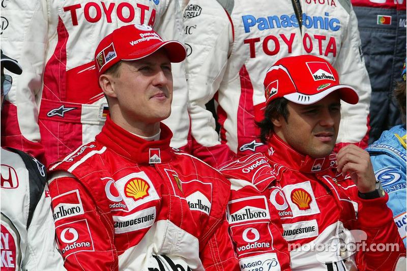 Foto de pilotos: Michael Schumacher y Felipe Massa