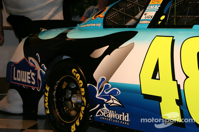 Conférence de presse Sea World avec Jimmie Johnson