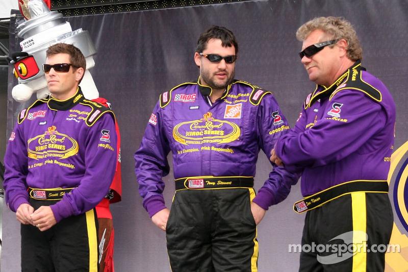 Scott Sharp, Tony Stewart et Steve Kinser