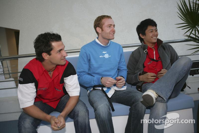 Olivier Pla, Hiroki Yoshimoto et Timo Glock