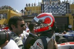 Nelson A. Piquet fête sa victoire