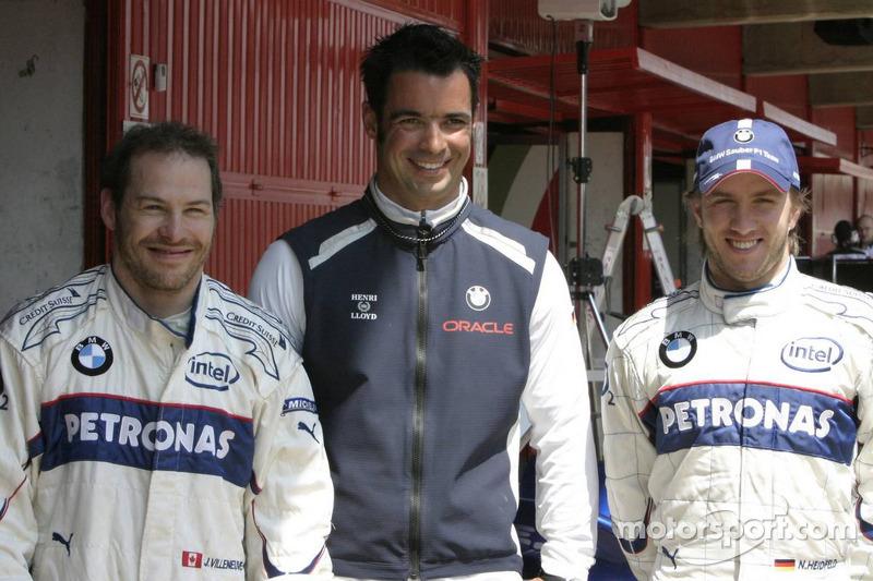 Jacques Villeneuve, Tony Kolb et Nick Heidfeld