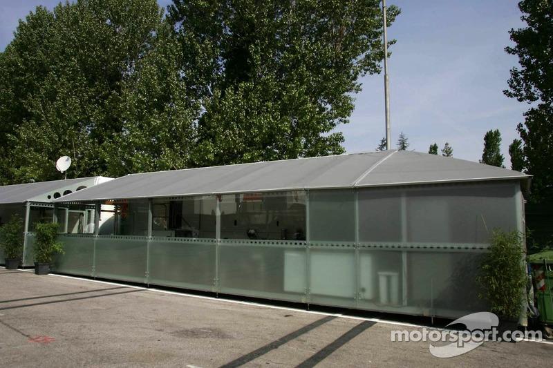 La zone d'hospitalité de Super Aguri F1