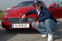 Scott Speed with his new Maserati GranSport