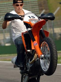 Christian Klien on his KTM