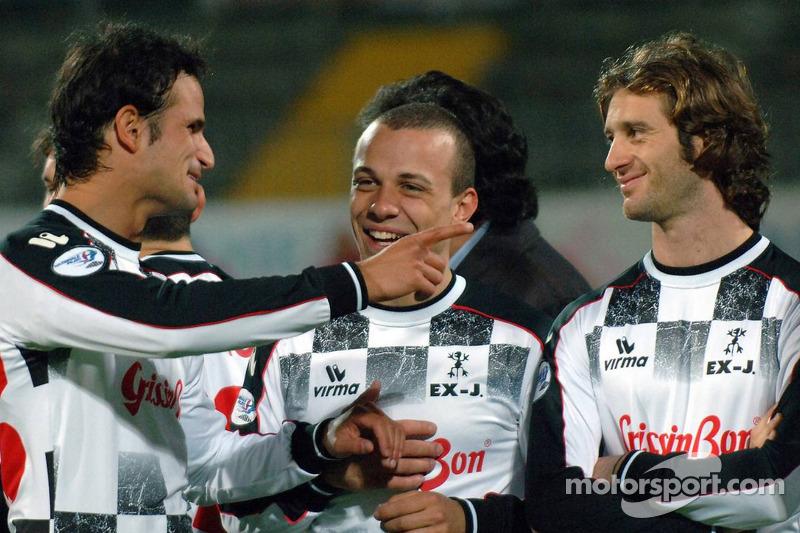 Les champions font un match de charité, Ravenna's Benelli Stadium: Vitantonio Liuzzi et Jarno Trulli