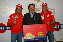 Martini launch their don't drink and drive campaign with Felipe Massa and Michael Schumacher