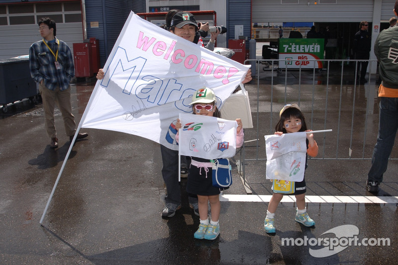 Un jeune fan club de Marco Andretti