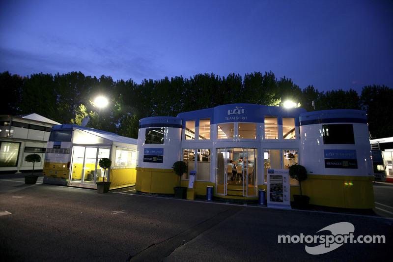 La zone d'hospitalité de Renault F1