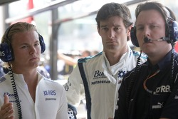 Nico Rosberg, Mark Webber et Sam Michael