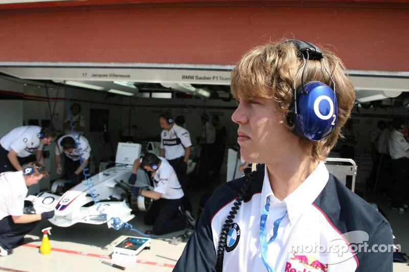 Sebastian Vettel, ASM Formula 3, Dallara F305 Mercedes, como invitado del BMW Sauber F1 Team