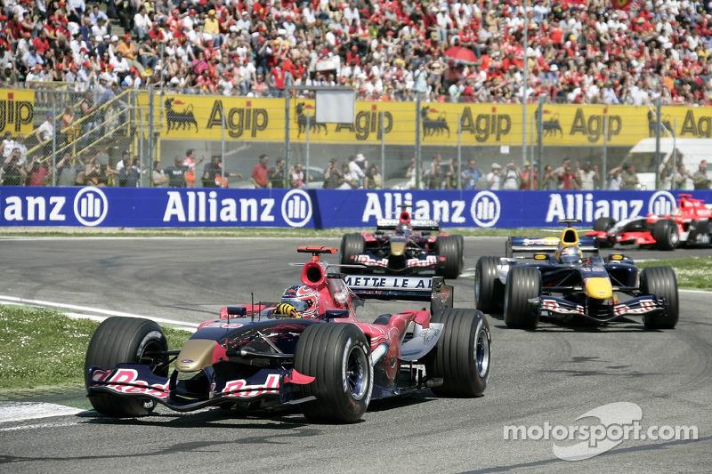 Vitantonio Liuzzi, Christian Klien et Scott Speed