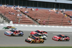 Mark Martin leads a group of cars
