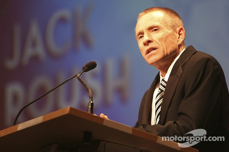 Mark Martin talks about team owner Jack Roush as Roush is inducted into the Motorsports Hall of Fame at Talladega