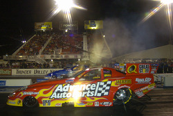 Cruz Pedregon won the Funny Car title in Las Vegas