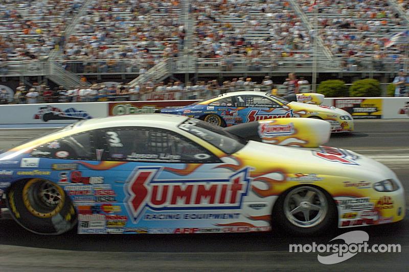 Jason Line est passé devant Greg Anderson pour prendre la pole position