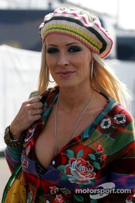 Cora Schumacher at European GP
