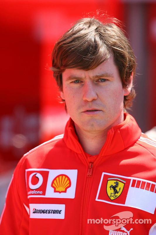 Rob Smedily, l'ingénieur de Felipe Massa