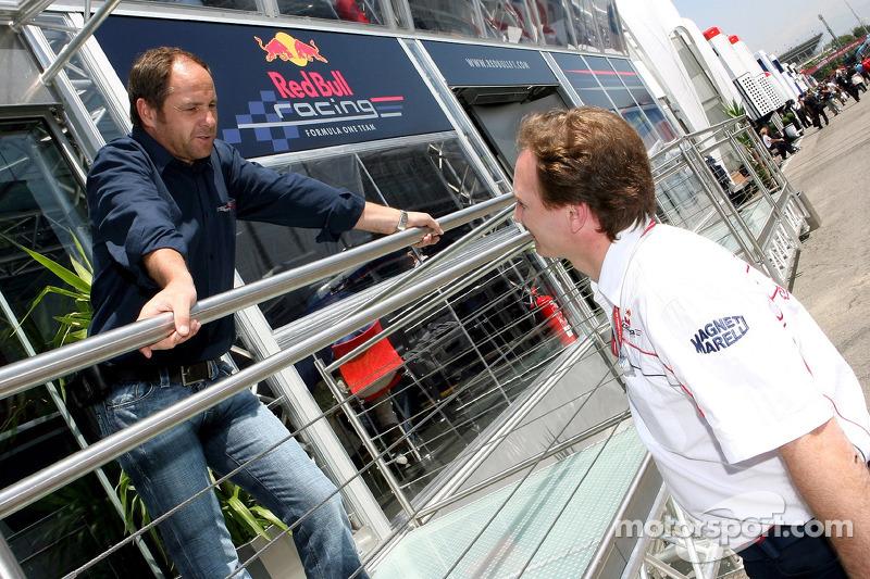 Gerhard Berger et Christian Horner
