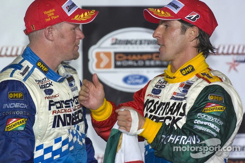 Podium: Paul Tracy et Mario Dominguez