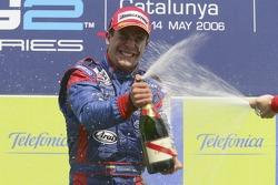 Ernesto Viso race winner sprays champagne