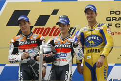 Podio: 1º Dani Pedrosa, 2º Nicky Hayden, 3º Colin Edwards
