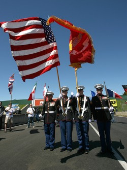 Marines on the starting grid