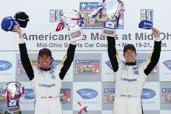 LMGT1 podium: class winners Olivier Beretta and Oliver Gavin