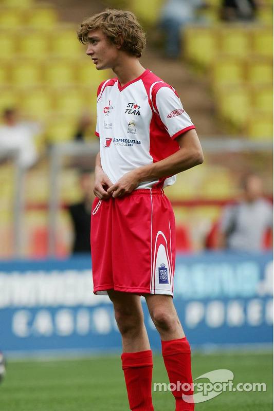 Match de football de charité: Pierre Casiraghi, le fils de la princesse Caroline et le neveu du Prince Albert II de Monaco