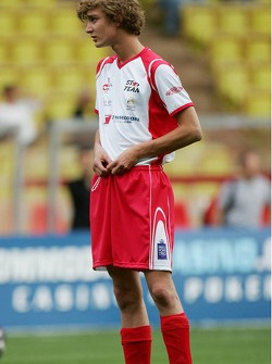 Charity football match: Pierre Casiraghi, son of Princess Caroline and nephew of Prince Albert II of Monaco