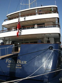 Flavio Briatore on the yacht