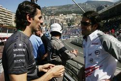 Pedro de la Rosa talks with Ricardo Zonta
