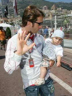Jarno Trulli and his son Enzo Trulli