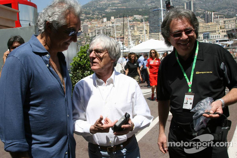 Kangaroo TV est présentée à Bernie Ecclestone et Flavio Briatore