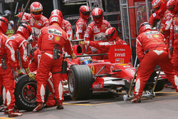Felipe Massa makes a pitstop