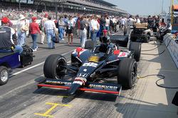 Pre-race preparation for Max Papis' car