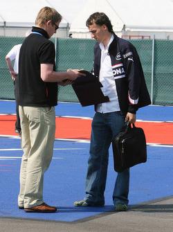 Robert Kubica signs autographs