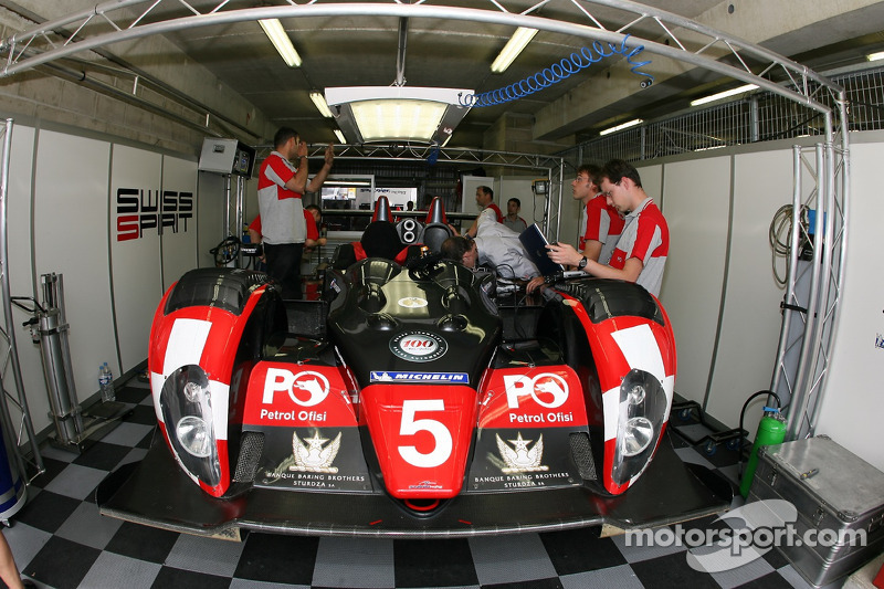 Le garage de Swiss Spirit