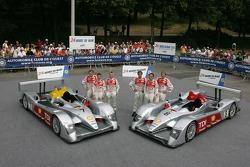 Audi Sport Team Joest Audi R10: Allan McNish, Rinaldo Capello, Tom Kristensen, Marco Werner, Frank Biela, Emmanuele Pirro