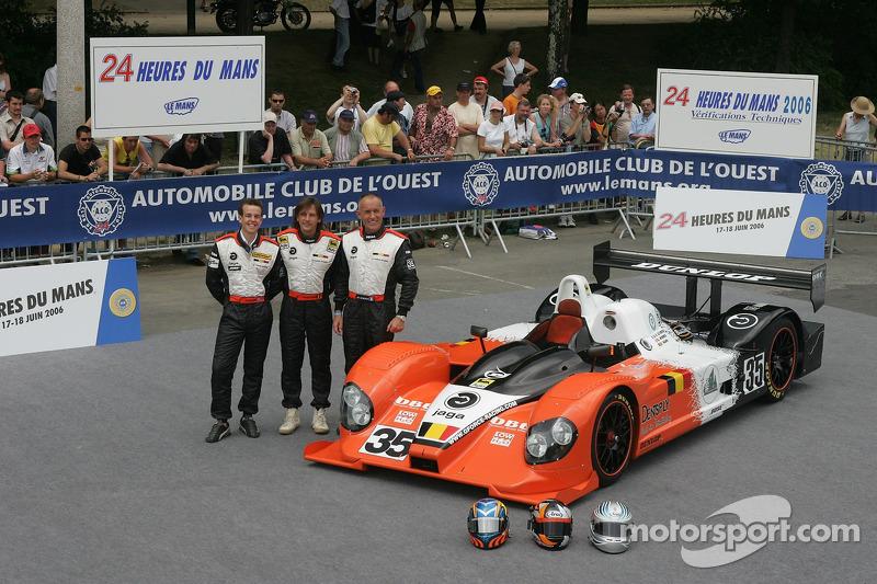 Edward Morris, Jean-François Leroch, et Frank Hahn avec la G-Force Courage C65 Judd