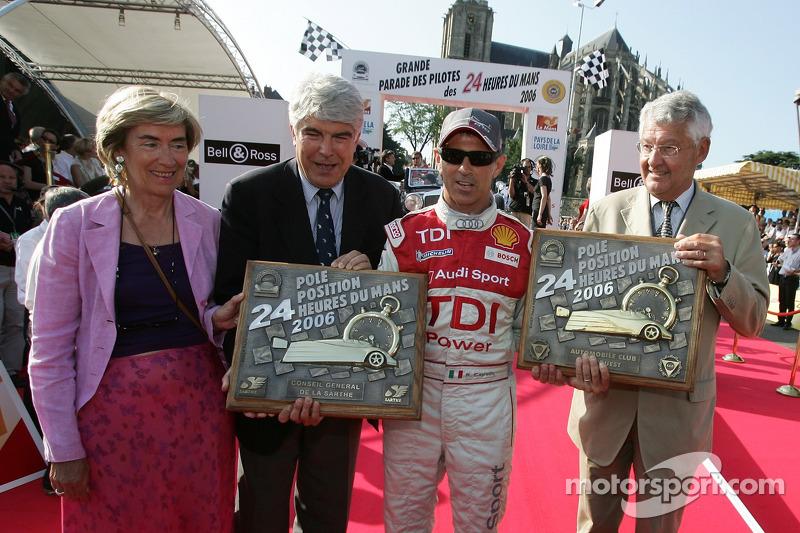 Le vainqueur de la pole position LMP Rinaldo Capello