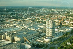 View of BMW plant in Munich